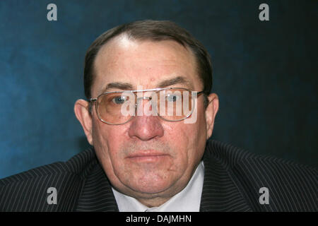 A File picture dated 8 April 2011 shows the former engeneer for Thermal Power Plants, Nikolai Issajew, pictured - Stock Photo