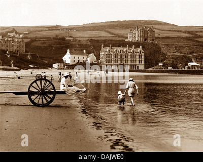 Port Erin Isle of Man early 1900s - Stock Photo