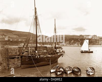 Port Erin Isle of Man early 1900s - Stock Photo