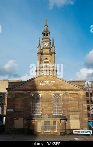 St George's Tron Church along Bath street and Nelson Mandela square central Glasgow Scotland Britain UK Europe