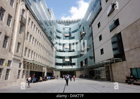 new bbc broadcasting house london, england uk - Stock Photo