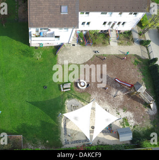 playground with sand box and slides stock photo royalty free image 75032257 alamy. Black Bedroom Furniture Sets. Home Design Ideas