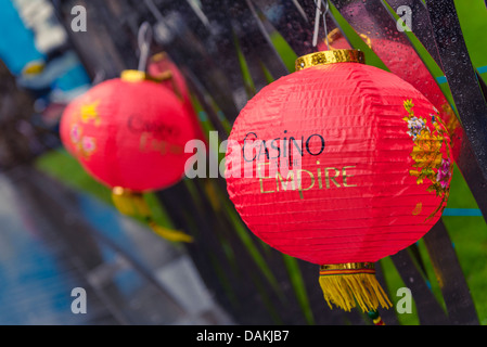Chinese lanterns from the London Chinese New Year 2013 celebrations - Stock Photo