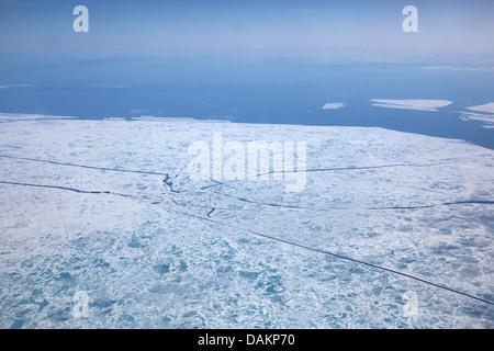 the ice is breaking, Canada, Nunavut - Stock Photo