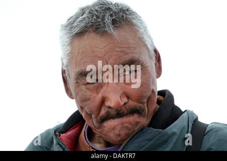 portrait of an inuit, Canada, Nunavut - Stock Photo