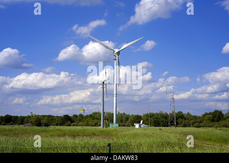 wind energy test bay of the Bremen college , Germany - Stock Photo