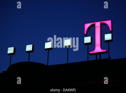 FILE - An archive picture, dated 29 August 2007, shows the symbolic T of the German Telekom at the headquarters - Stock Photo