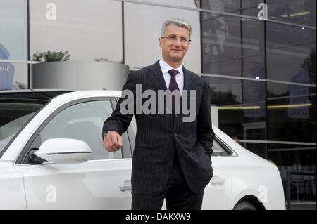 Audi CEO Rupert Stadler Stands Next To An Audi A Quattro Prior - Anaudi