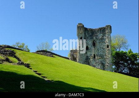 Peveril castle castleton Derbyshire england uk - Stock Photo