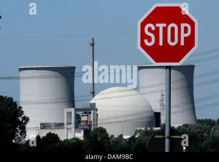 The nuclear power plant Biblis is seen in Biblis,Germany, 30 May 2011. The governement wants to close all of the - Stock Photo