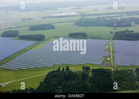 large-scale photovoltaic system, Germany, Bavaria, Pocking - Stock Photo