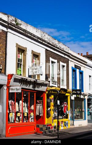 Pembridge road shops near to Portobello road in Notting Hill, London - Stock Photo