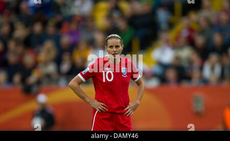 Kelly Smith of England reacts during the Group B match New Zealand against England of FIFA Women's World Cup soccer - Stock Photo