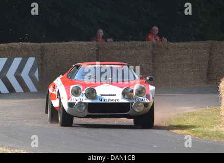 Lancia Stratos at Goodwood Festival of Speed 2013 - Stock Photo
