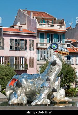 France French Musée d'Art Moderne et d'Art Contemporain - Museum of modern and contemporary Art Nice - Stock Photo