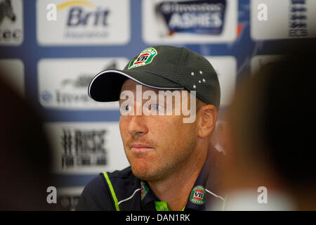 London, UK. 16th July, 2013. Brad Haddin during the Australian team press conference prior to the 2nd test match, - Stock Photo