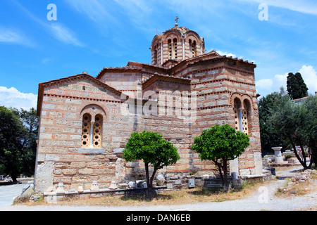 Church of the Holy Apostles, 10th century A.D., Athens, Greece - Stock Photo