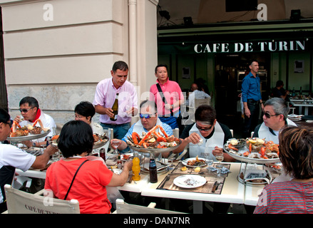 lunch cafe de turin nice france chinese people fruits de mer french stock photo 58244767 alamy. Black Bedroom Furniture Sets. Home Design Ideas
