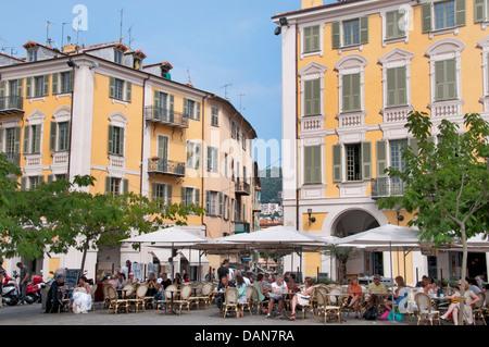 Restaurant Place Garibaldi Nice French Riviera Cote D'Azur France - Stock Photo