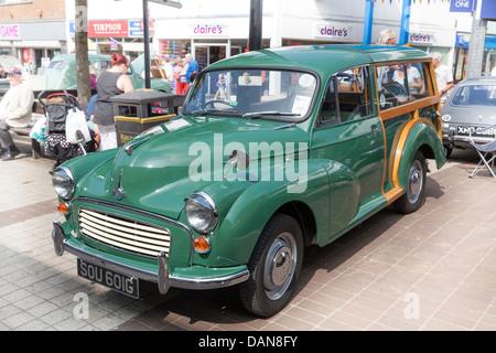 Morris Minor 1000 traveller at classic car show - Stock Photo