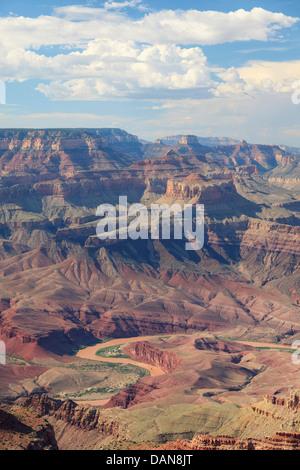 USA, Arizona, Grand Canyon National Park (South Rim), Colorado River from Lipan Point - Stock Photo