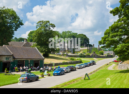 Tissington hall and village Derbyshire Peak District, Derbyshire, England, GB, UK, EU, Europe - Stock Photo