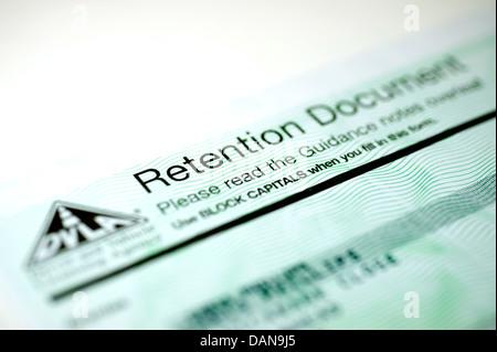 DVLA Cherished Transfer Retention Document - Stock Photo