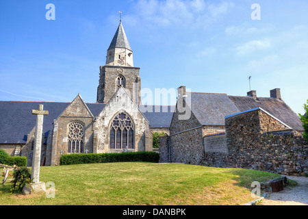 church of Saint-Suliac, Brittany, France - Stock Photo