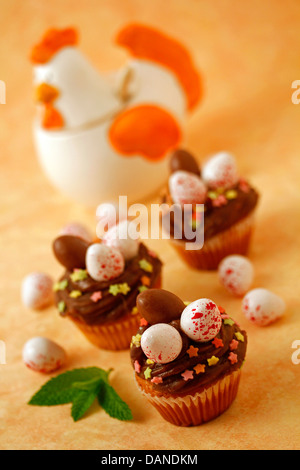 Easter cupcakes. Recipe available, - Stock Photo
