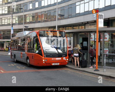 Manchester city transport free bus the MetroShuttle - Stock Photo