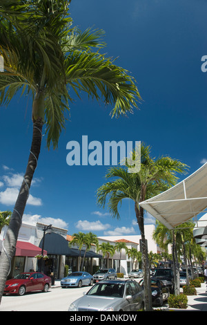 WORTH AVENUE PALM BEACH FLORIDA USA - Stock Photo