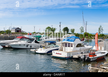 Boats in Collingwood Harbor - Stock Photo