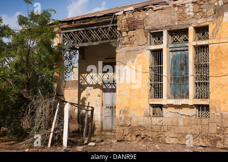 Africa, Eritrea, Massawa, Tualud Island, home in part of former Railway station - Stock Photo