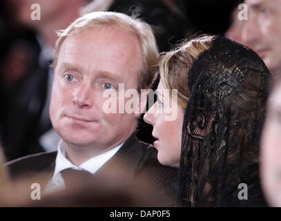 Prince Carlos and Princess Annemarie de Bourbon de Parma attend the funeral of His Imperial Royal Highness Archduke - Stock Photo