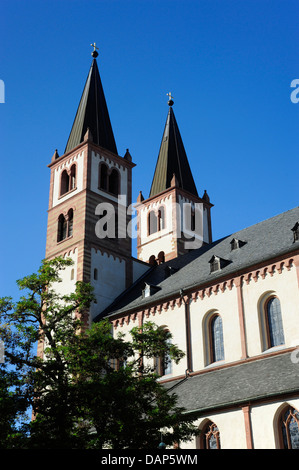 Germany, Bavaria, Wurzburg, View of St Kilian Cathedral - Stock Photo