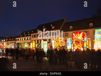 Europe, Switzerland, Basel, Fasnact spring carnival lantern displays - Stock Photo