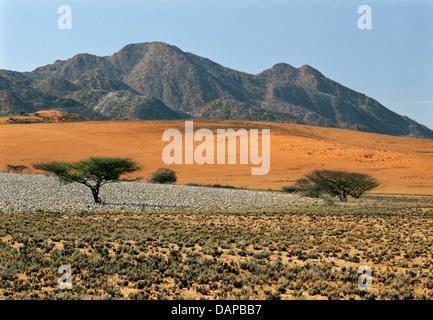 Arid landscape in the Iona National Park, Angola. - Stock Photo