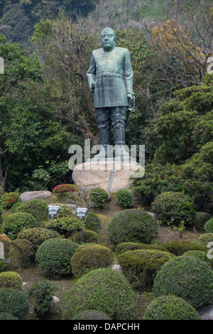 Saigo Takamori, statue of the Last Samurai in Ueno Park, Tokyo, Japan Stock P...