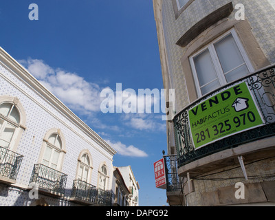 Apartments for sale in Tavira in the south of Portugal - Stock Photo