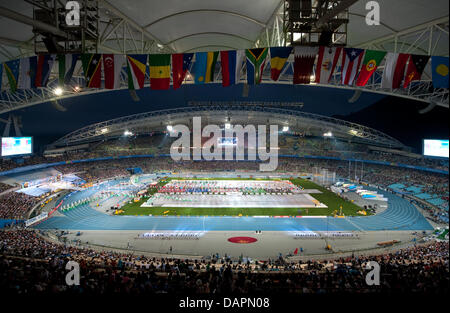 General view of the stadium during the opening ceremony of 13th IAAF World Championships in Athletics, in Daegu, - Stock Photo
