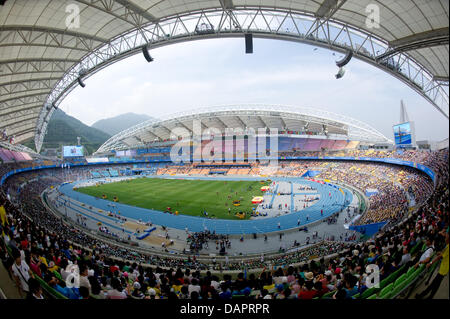 General view of the stadium at the 13th IAAF World Championships in Athletics, in Daegu, Republic of Korea, 30 August - Stock Photo