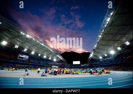General view of the stadium after sunset at the 13th IAAF World Championships in Daegu, Republic of Korea, 02 September - Stock Photo