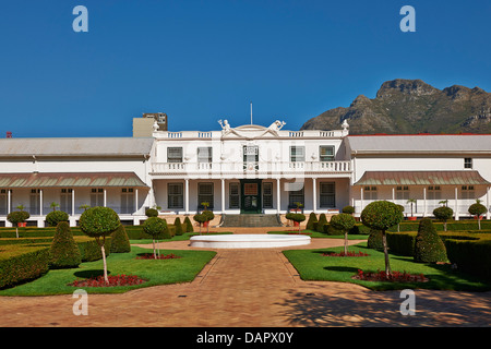 Presidents Residence in Companys Garden, Cape Town, Western Cape, South Africa - Stock Photo