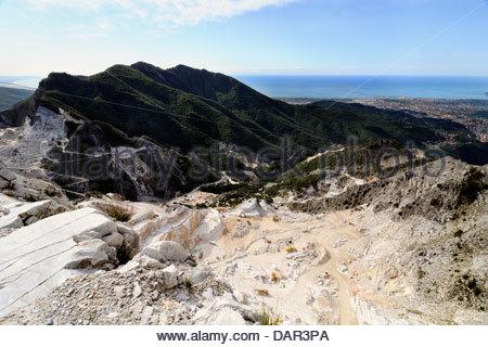 marble quarry,carrara,tuscany,italy Stock Photo