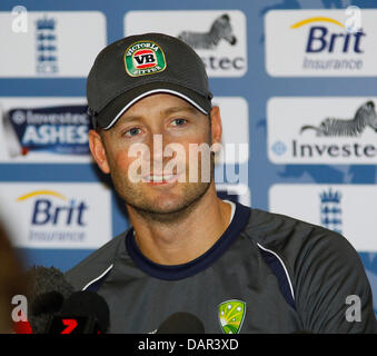 London, UK. 17th July, 2013. Australia's captain Michael Clarke's press conference prior to the Australia's team - Stock Photo