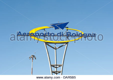 guglielmo marconi airport,bologna,emilia romagna,italy - Stock Photo