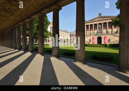 Berlin. Germany. Exterior of the Alte Nationalgalerie, Old National Gallery, designed by Friedrich August Stüler - Stock Photo
