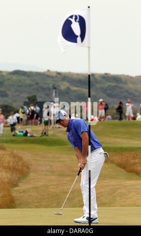 Muirfield, East Lothian, Scotland. 17th July, 2013. Northern Ireland's Rory McIlroy in action during a practice - Stock Photo