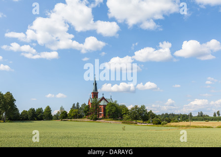 Summery view of Sipoo, Finland - Stock Photo