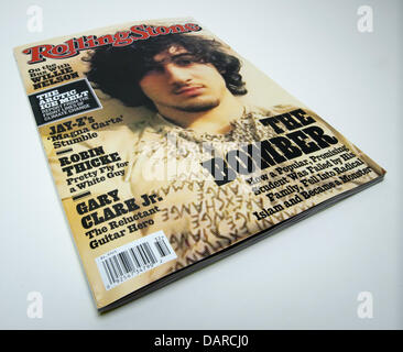 July 17, 2013 - Orange County, California, USA - The August 1, 2013 issue of Rolling Stone Magazine features on - Stock Photo
